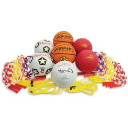 Champion Sports UPGSET2 Physical Education Kit w/Seven Balls