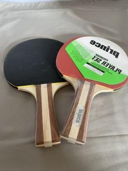Ping Pong Paddles Prince Premium 2 Paddles NEW Table Tennis