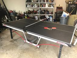 Ping Pong Table, Black, Stiga 9x5ft 3 Paddles Included