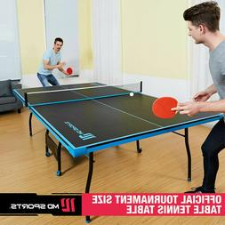 Ping Pong Tennis Table Folding Tournament Size Game Set Indo