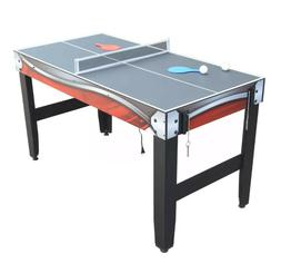 SPORTS GAME TABLE 3-In-1 Table Tennis Basketball Air Hockey
