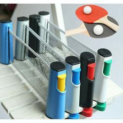 Table Tennis Kit Ping Pong Set Retractable Net Rack Portable