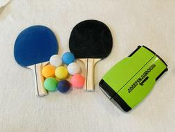 Franklin Sports Table Tennis To Go Travel Paddles, Net, 8 Pi
